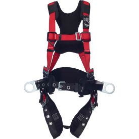 Protecta® Comfort Construction Style Positioning Harness, Tongue Buckle & Pass Thru, M/L