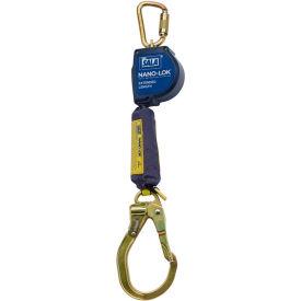 Nano-Lok™ Extended Self Retracting Lifeline, Steel Locking Rebar Hook, Swivel Anchor Loop, 9'