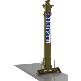 3M DBI-SALA 7400215 SecuraSpan Rebar/Shear Stud Stanchion with Base, 310 Cap Lbs