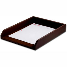 DACASSO Chocolate Brown Leather Letter Tray by