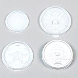 Dart&#174 DCC12UL, Plastic Lids for Hot/Cold Foam Cups, White, 1000/Carton