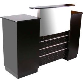 "Deco Mandy Reception Desk, SF1110, Black, 60""W x 22""D x 42""H"