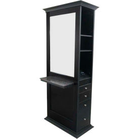 """Deco Nottingham Double Styling Station, SF1671, 34.5""""W x 78.5""""H x 22""""D"""