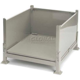 """Davco KDS-01 Collapsible Sheet Metal Steel Container 40-1/2""""x34-1/2""""x26"""" Zinc-Galv"""