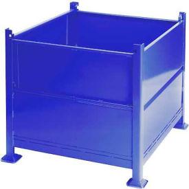 "Davco Sheet Metal Steel Container R2GS-01 - 40-1/2""x34-1/2""x32"" 2 Gates Blue"