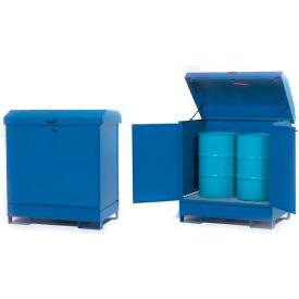 "Hazmat Outdoor 2 Drum Storage Station w/Containment, 54""W x 34""D x 55""H"