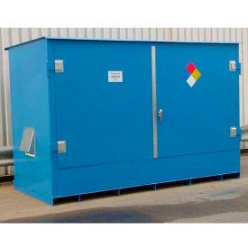 "Denios IBC Locker 12' 9""W x 5' 10""D x 7' 4""H, Non-Combustible Outdoor Storage Building For 2 IBCs"