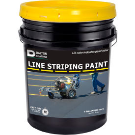 Latex-ite® 5 Gal. Line Striping Paint, Lead-Free, Fast Dry, Yellow, 1 Each