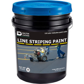 Latex-ite® 5 Gal. Line Striping Paint, Lead-Free, Fast Dry, Blue, 1 Each