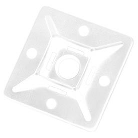 """Del City 9771 4-way Adhesive Mtg Base- 1-1/8"""" sq- Natural, 100 Pieces"""
