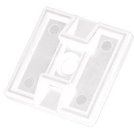 """Del City 9800 Adhesive Mtg Base- 2-way- 1"""" sq- Natural, 100 Pieces"""
