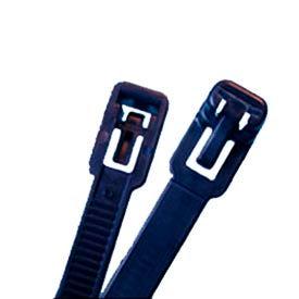 """Del City 9956 Releasable Cable Ties UV Black, 11"""", 100 Pieces"""