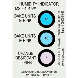Humidity Indicator Card 5% 10% 15% Range 125 Pack