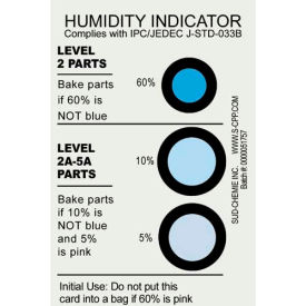Humidity Indicator Card 5%10% 60% Range 125 Pack