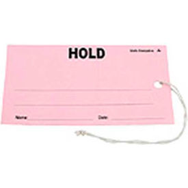 """ESD Tag """"Hold"""" Pink 2-3/4"""" x 5"""" 100 Pack"""