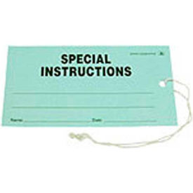 "ESD Tag ""Special Instruction"" Green 2-3/4"" x 5"" 100 Pack"