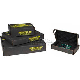 "Protektive Pak 37036 Circuit Board Shipping Storage Box w/Black Foam, 11-1/2""L x 8-7/8""W x 2-3/4""H"