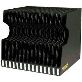 "Protektive Pak 37565 Conductive Reel Storage Container, 15 Slots, 17-1/2""L x 15-5/8""W x 15-1/4""H"