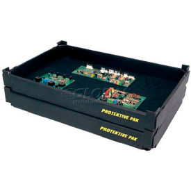 """Protektive Pak ESD Stackable and Nesting Tek-Tray, 18-3/4""""L x 11-7/8""""W x 1-7/8""""H"""