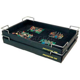 """Protektive Pak ESD Stackable and Nesting Wire Corner Super Tek-Tray, 19""""L x 12-3/8""""W x 2""""H"""