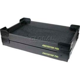 "Protektive Pak ESD Stackable & Nesting Plastic Corner Super Tek-Tray, 23-3/4""L x 18-1/2""W x 2-3/4""H"