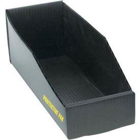"Protektive Pak 38907 Plastek ESD Open Bin Box, 4""W x 24""D x 4""H"