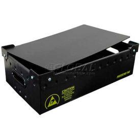 """Protektive Pak 39185 Plastek Conductive Stackable Storage Container Lid, 19-3/16""""Lx13-1/16""""Wx3/16""""H"""