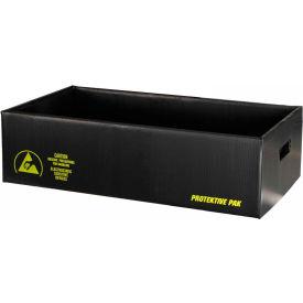 "Protektive Pak 39313 Plastek ESD Shipping Storage Container, 23-7/8""L x 13-1/2""W x 8-5/16""H"