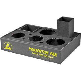 "Protektive Pak 47555 ESD Workstation Organizer, Corrugated, Compact, 11-1/4""L 8""W x 2-1/4""H"