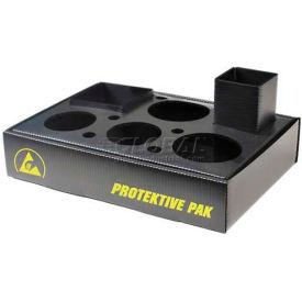 "Protektive Pak 47556 Plastek ESD Workstation Organizer, Compact, 11-1/4""L 8""W x 2-1/4""H"