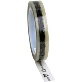 """ESD Tape Clear With Symbols 3/4"""" x 72 Yds 3"""" Plastic Core"""