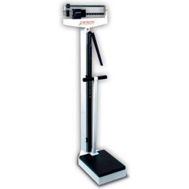 Detecto 449 Eye Level Beam Physician Scale 400lb x 4oz W/ Height Rod And Hand Post