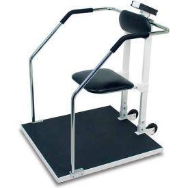 "Chair Scale Or Stand On Scale Digital With Flip Up Seat 800 Lb X .2 Lb  32"" W X 34"" D Platform"
