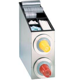 Dispense-Rite® BFL SS Countertop 2 Cup Dispensing Cabinet w/Organizers