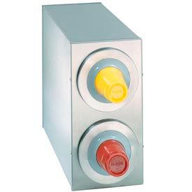 Dispense-Rite® BFL Countertop 2 Cup Dispensing Cabinet - Stainless Steel