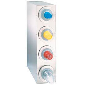 Dispense-Rite® BFL Countertop 4 Cup Dispensing Cabinet - Stainless Steel