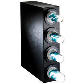 Dispense-Rite® BFL Countertop 4 Cup Dispensing Cabinet - Black