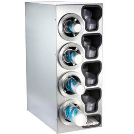 Dispense-Rite® Countertop SS Right 4 Cup Dispensing Cabinet w/Organizers