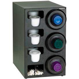 Dispense-Rite® Upright Rt 3 Cup Dispensing Cabinet w/Lid, Straw Organizer