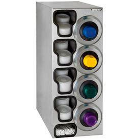 Dispense-Rite® SLR Right 4 Cup Dispensing Cabinet w/Lid & Straw Organizer