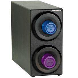 Dispense-Rite® Countertop 2 Cup Dispensing Cabinet - Black