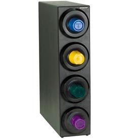 Dispense-Rite® Countertop 4 Cup Dispensing Cabinet - Black