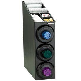 Dispense-Rite® Upright 3 Cup Dispensing Cabinet w/Lid & Straw Organizer