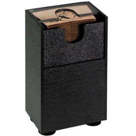 Dispense-Rite® Countertop Spring-Loaded Coffee Sleeve Dispenser - Black