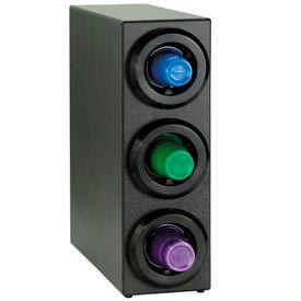 Dispense-Rite® Three Tier Countertop Cup Dispensing Cabinet - Black