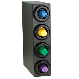 Dispense-Rite® Four Tier Countertop Cup Dispensing Cabinet - Black