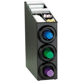 Dispense-Rite® Upright 3 Tier Cup Dispense Cabinet w/Lid & Straw Organizer
