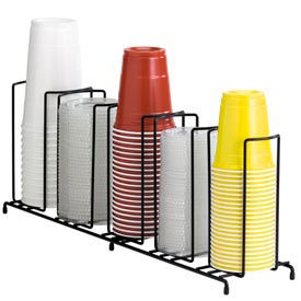 Dispense-Rite® 5 Section Wire Rack Cup and Lid Organizer