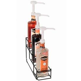 Dispense-Rite® 3 Compartment Wire Rack Bottle Organizer