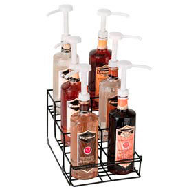 Dispense-Rite® 6 Compartment Wire Rack Bottle Organizer